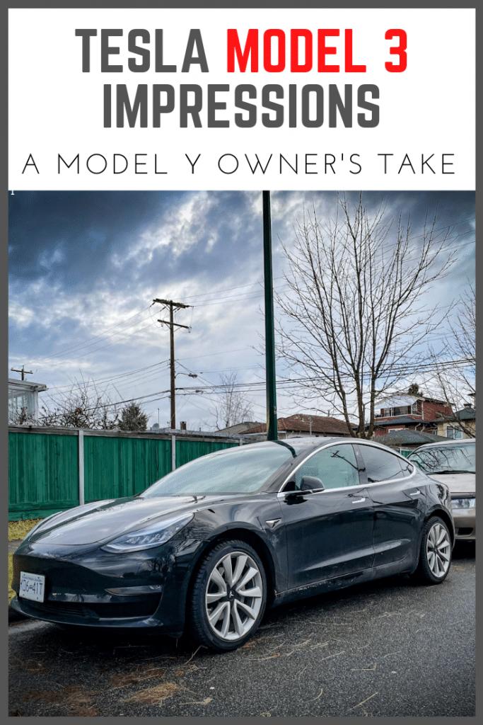 Tesla Model 3 Impressions From a Model Y Owner